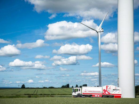 Fabrication de carrosserie spécifique pour la vidange d'éoliennes par ATS