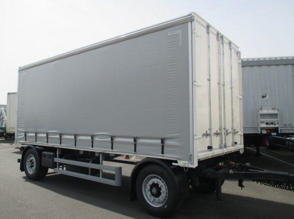 Remorque 2 essieux AV train carrosserie PLSC face AV 4 vantaux